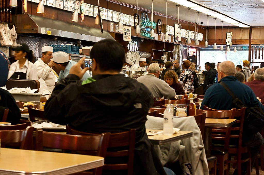Lunchtime Bustle in Katz Deli