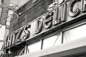 Katz's Deli exterior sign