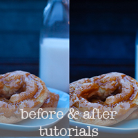 before & after tutorial