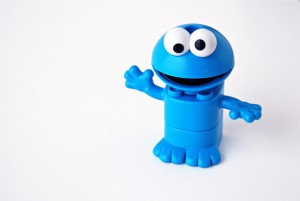 cookie monster made out of lego