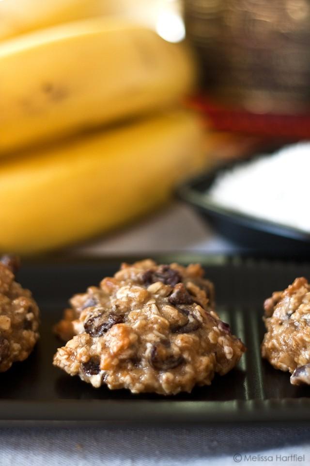 Banana Rum Coconut Cookies