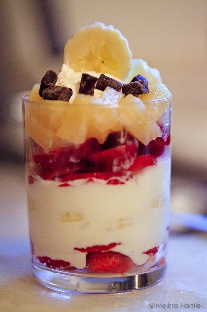Banana Split in a Glass