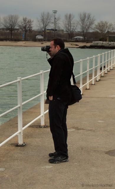 Hank on the Pier taking photos