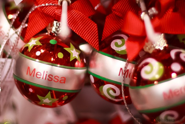 Christmas hanging balls personalized