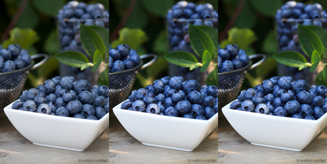 Blueberries and a Basic Food Photography Post Processing Tutorial