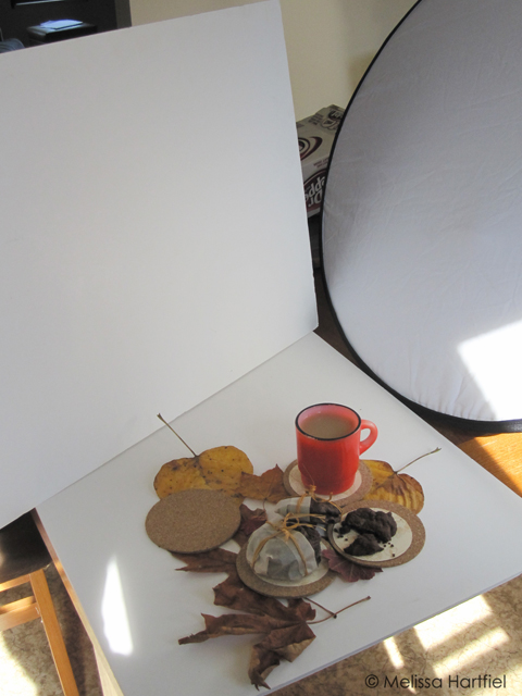 Photo shoot setup for cookies