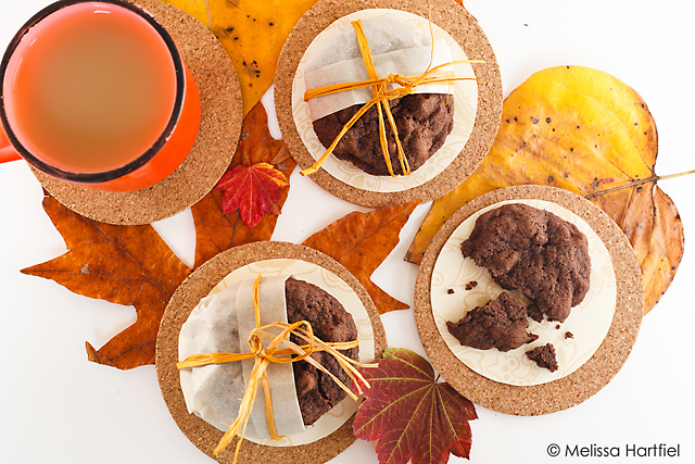 Cookies and fall leaves
