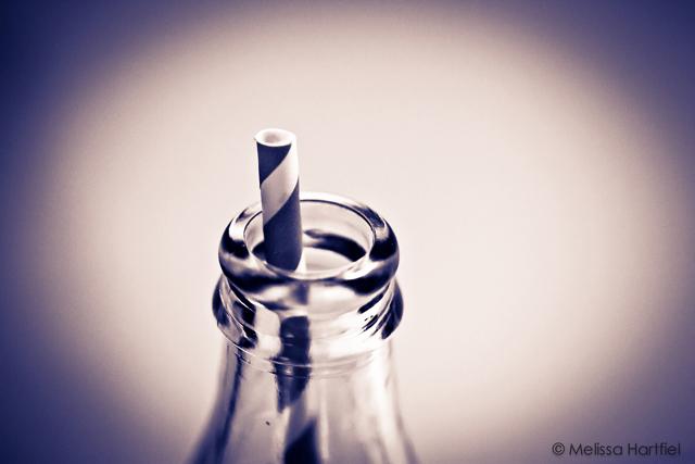 straw in a bottle