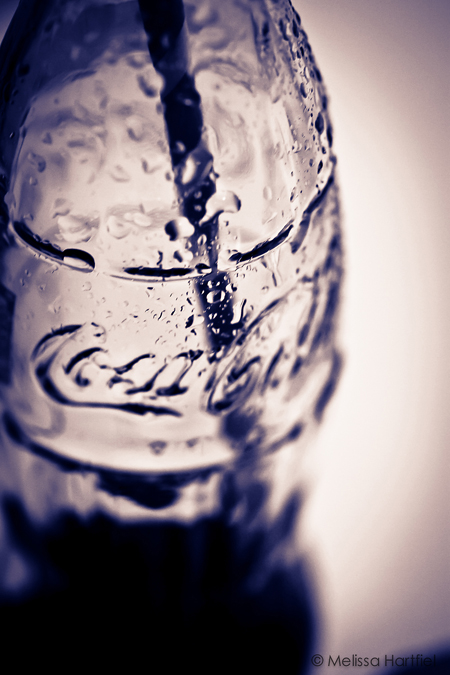 coca-cola in the glass bottle