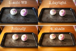 white balance changes with natural light