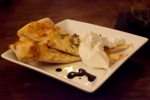 Buratta served with rosemary pizza bread
