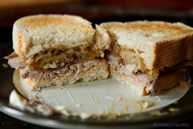 Pork Tenderloin Saltimbocca and Apple Sandwich