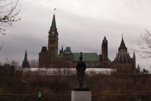 Canadian parliament buildings in Ottawa