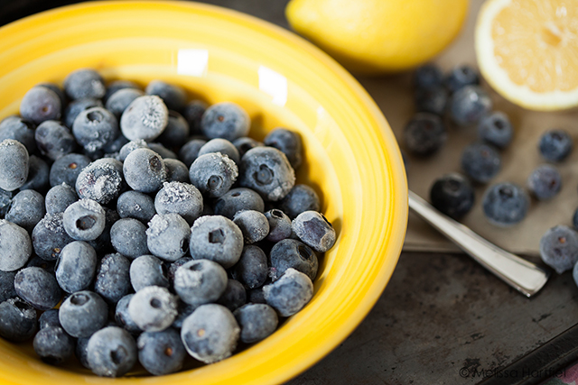 frozen blueberries with lemons