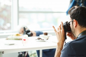 Photographers shooting food