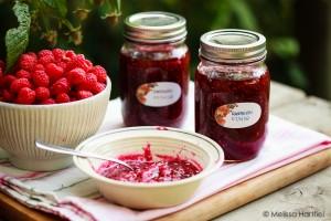 raspberry jam and raspberry jam fluff