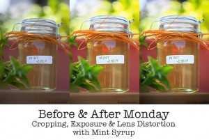 before and after post processing photographs