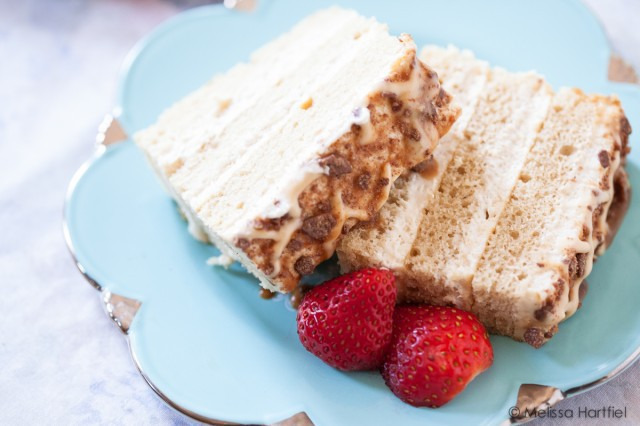 Three layered cake