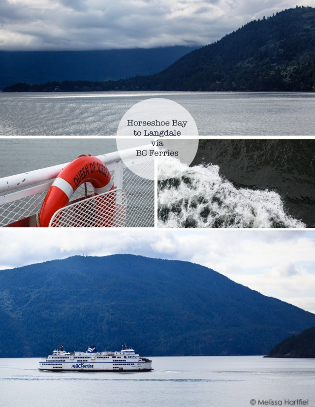 images from the ferry in a collage