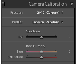 Camera Calibration in Lightroom 4