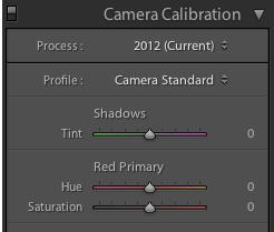 Camera Calibration in Lightroom 4
