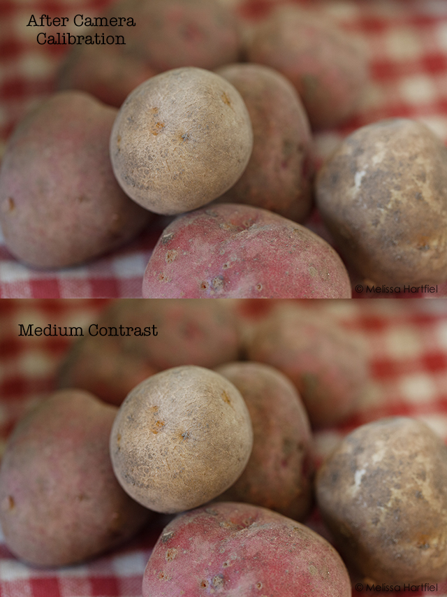 potatoes with contrast
