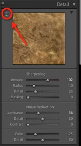 Sharpening details in Lightroom