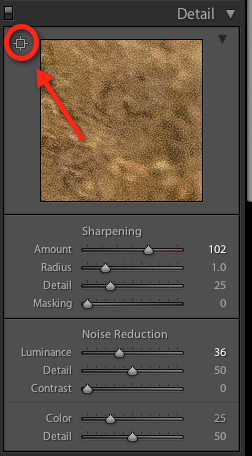 Sharpening details in Lightroom