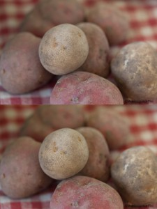 potatoes with different camera calibration