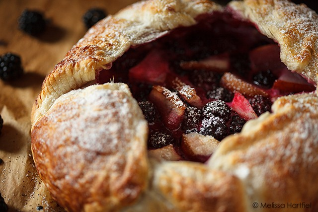 Blackberry Pear Galette with Honeyed Goat Cheese