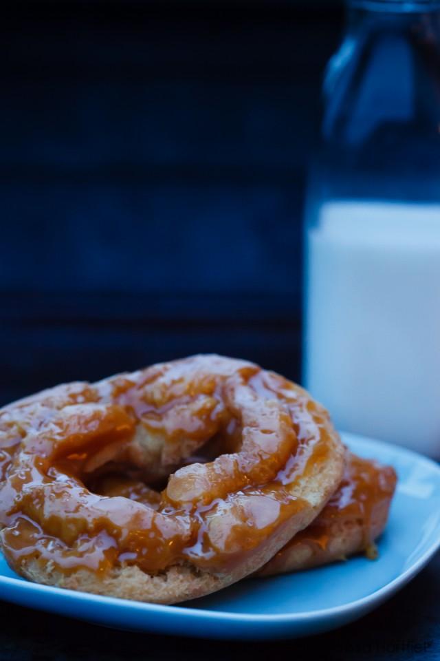 Lucky's Salted Caramel Doughnuts