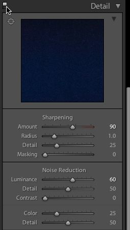 sharpening and luminance in lightroom