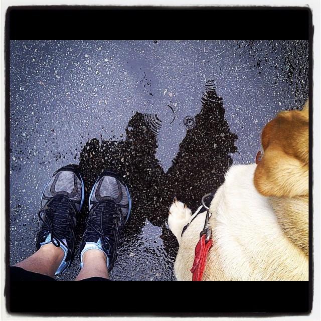 Feet on the pavement