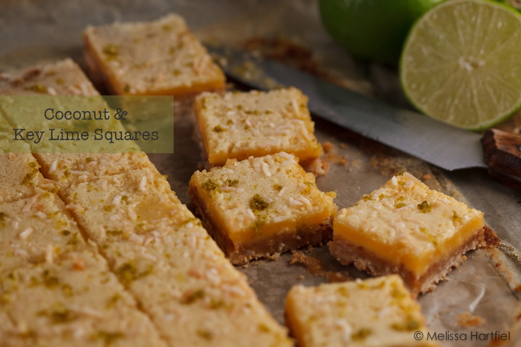 coconut key lime squares