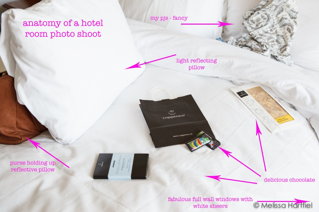 anatomy of a hotel room photo shoot