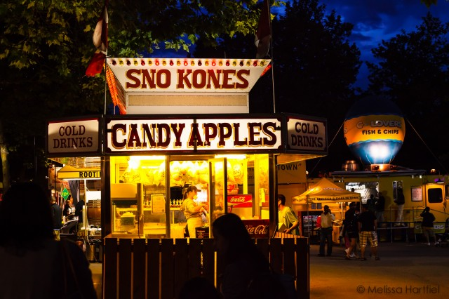 sno kones and candy apples at the PNE