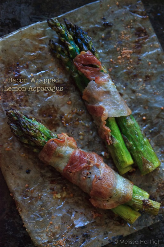 Lemon Roasted Bacon Wrapped Asparagus | eyes bigger than my stomach