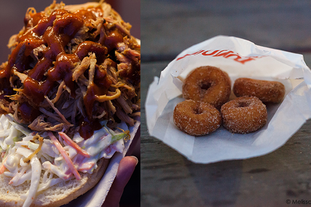 pulled pork and mini donuts at the PNE