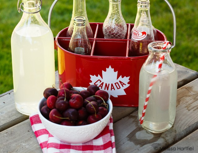 Cherries and Lemonade on Canada Day