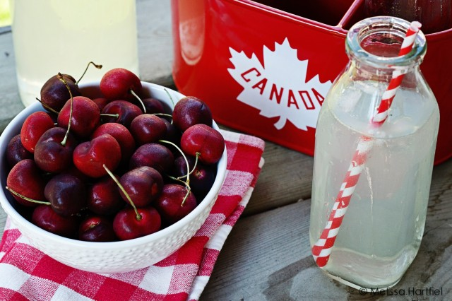 Cherries and Lemonade on Canada Day