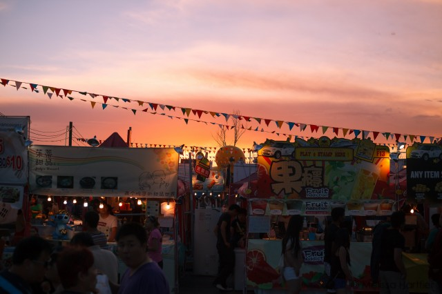 Richmond Night Market at Sunset