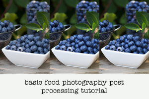 a basic food photography post processing tutorial
