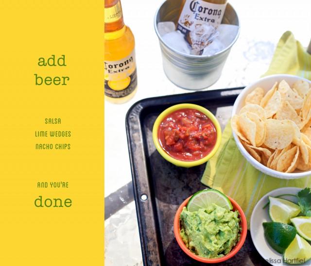 Corona and guacamole | www.eyesbiggerthanmystomach.com