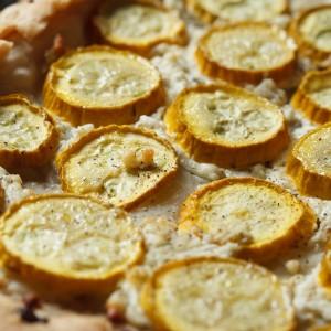 Zucchini Goat Cheese Tart | www.eyesbiggerthanmystomach.com