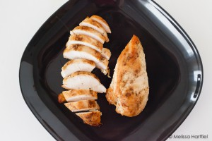 sliced roast chicken