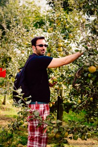 Ethan picking apples