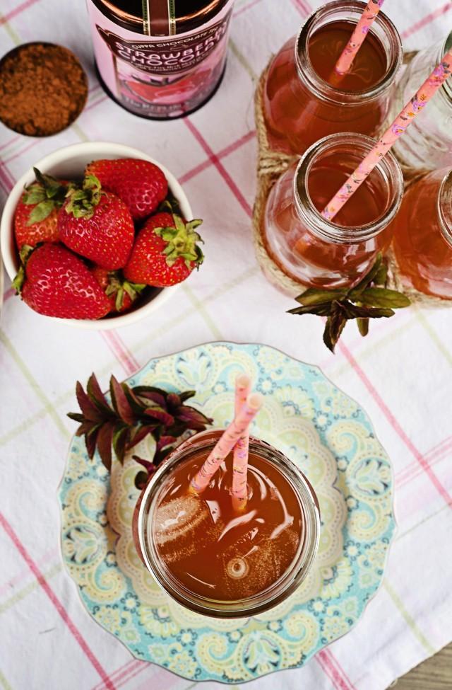 Strawberry Chocolate Iced Tea   Eyes Bigger Than My Stomach