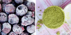 Blueberry Matcha Green Tea Smoothie | eyes bigger than my stomach