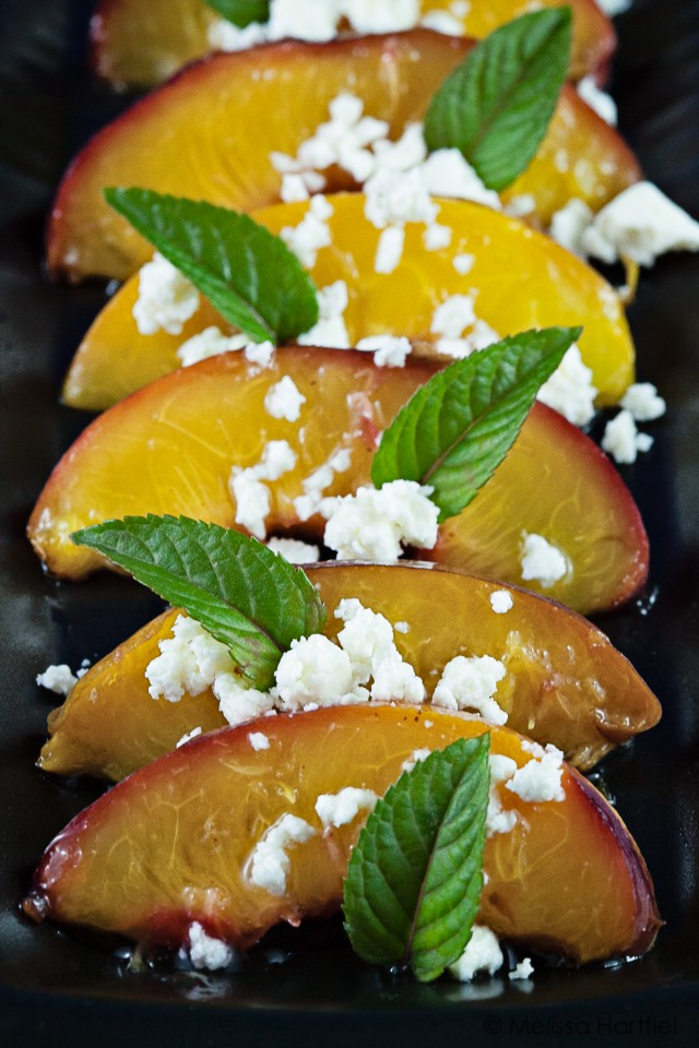 Simplicity: Stone Fruit, Feta & Mint Salad | eyes bigger than my stomach