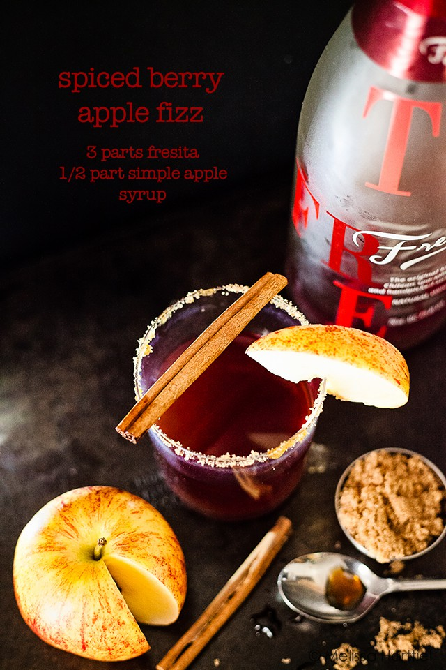 Spiced Berry Apple Fizz Cocktail & Simple Apple Syrup